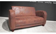 2er-Sofa ANTIS Antik Cognac Braun 153 cm