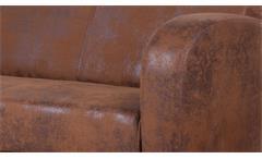 Sofa 2-Sitzer Couch Antis Antik cognac braun 153 cm