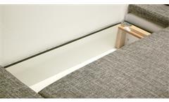 Ecksofa Acra Polstergarnitur Einzelsofa mit Schlafffunktion Bettkasten in weiß