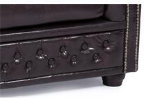 Sofa Sheffield 2-Sitzer Chesterfield Polstermöbel 2er-Couch antik braun glänzend