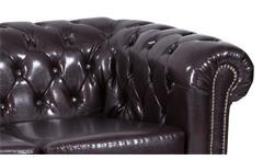 Garnitur 3-2-1 Sheffield Polstermöbel Sofa 2 und 3 Sitzer Sessel Lederlook braun