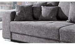 Bigsofa Adria Big Sofa Couch in Webstoff graubraun mit vielen Kissen