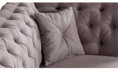 Sofa 2-Sitzer Carles Polstersofa Polstermöbel Chesterfield Optik in hell braun