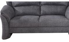 Sofa 2 Sitzer Pisa Einzelsofa Polstersofa Couch Polstermöbel schwarz grau 165