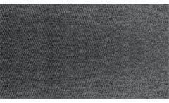 Hocker Ariella Polsterhocker Sitzhocker in Stoff dunkelgrau grau 120x70 cm