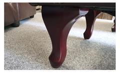 Hocker Chesterfield Fußhocker dunkelbraun glänzend mit Steppung