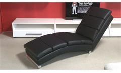 Relaxliege Polsterliege Chaiselongue Liegesessel schwarz mit Gurtunterfederung