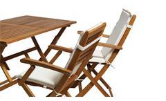 Tischgruppe Sitzgruppe Garten Lounge Set Tisch Stühle Akazie massiv geölt 9-tlg