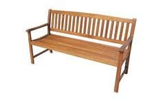 Holzbank Cambridge Gartenbank 3-Sitzer aus massiver Akazie
