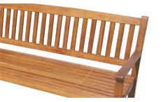 Gartenbank CAMBRIDGE Holzbank aus Massivholz Akazie 160 cm