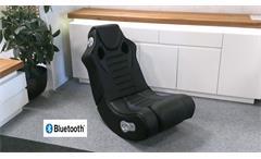 Gaming Chair SPEEDY schwarz Bluetooth Sound Sessel