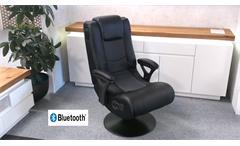 Drehsessel Gaming Chair MUSIC ROCKER schwarz Bluetooth
