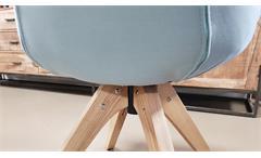 Armlehnstuhl SWIVEL Drehstuhl Esszimmerstuhl in blaugrau und Esche