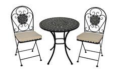 Sitzgruppe Balkonmöbel Set mit marokkanischem Mosaik 3-teilig