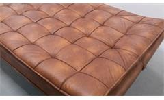 Schlafsofa CLIRK Funktionssofa in Lederlook light coffee