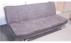 Schlafsofa CLIRK klappbare Couch mit grauem Stoffbezug