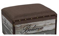 Sitzhocker Vintage Believe mit gepolstertem Stoffsitz Retro-Look