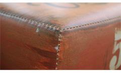 Holzbank Vintage Sitzbank oder Couchtisch mit Kunstleder