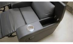 Cinema Sessel 4er Kinosessel Kinosofa Sofa schwarz Getränkehalter Relaxfunktion