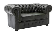 Sofa CHESTERFIELD 2-Sitzer 156 cm Echtleder grün