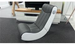 Soundsessel Gamingstuhl Spielsessel Soundz für Playstation XBOX Wii weiß grau