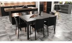Esstisch Küchentisch Aluminium Polywood in anthrazit dunkelgrau 150x90 cm