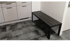 Sitzbank Küchenbank Aluminium Polywood in anthrazit dunkelgrau 120x40cm