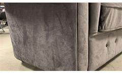 3-Sitzer Sofa Couch Chesterfield Wohnzimmer Couchgarnitur in Samt grau 198 cm