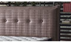 Doppelbett Polsterbett Golden in braun mit Hebeanschlag und Stauraum 180x200 cm