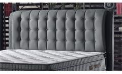 Doppelbett Bettgestell Platinium Polsterbett in grau mit Hebeanschlag 180x200cm