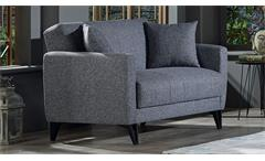 2-Sitzer Sofa BOLERNO Bettfunktion Bettkasten grau 146x85
