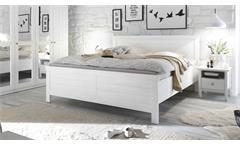 Bett Bellevue Schlafzimmerbett Doppelbett Landhaus in Pine weiß 180x200 cm