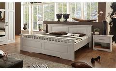 Bett Kalas Bettgestell Schlafzimmerbett Doppelbett Kiefer massiv weiß 180x200