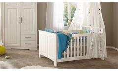 Babybett Kalas Kinderbett Bett Babyzimmer in Kiefer massiv weiß 70x140 cm