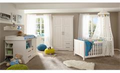 Wickelkommode Kalas Wickeltisch Kommode Aufsatz Babyzimmer Kiefer massiv weiß