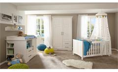 Babyzimmer Kalas Kleiderschrank Babybett Wickelkommode Regal Kiefer massiv weiß