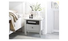Nachtkommode BELLEVUE in Anderson Pine weiß mit softclose