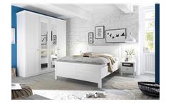 Schlafzimmer BELLEVUE Spiegel Anderson Pine weiß 4-teilig
