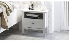 Schlafzimmer Set komplett Bellevue 4-teilig Anderson Pine weiß mit Spiegel