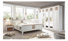 Schlafzimmer HELSINKI mit Spiegel weiß Riviera Eiche 4-teilig