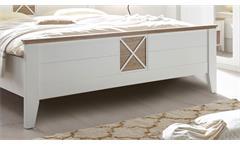 Schlafzimmer Set komplett Helsinki 5-teilig weiß und Riviera Eiche mit Spiegel
