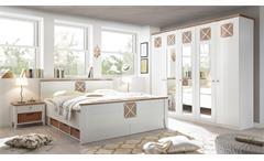 Schlafzimmer HELSINKI mit Spiegel weiß Riviera Eiche 5-teilig