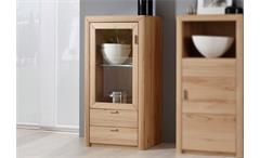 Highboard Passepartout 04/L Vitrine Kommode in Kernbuche massiv Wachseffektlack
