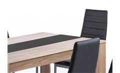 Tischgruppe Pegasus Esszimmer Küche Tisch Sonoma Eiche 6 Stühle in schwarz