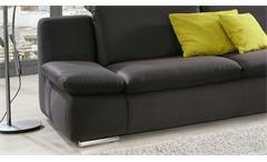 Sofa Isona 3-Sitzer Stoff anthrazit mit Kopfteilverstellung und Armteilfunktion