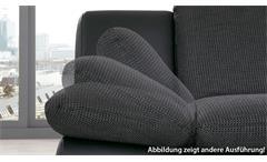 Sofa Isona 2-Sitzer Stoff anthrazit mit Kopfteilverstellung und Armteilfunktion