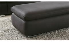 Hocker Isona Sitzhocker rechteckig Stoff anthrazit mit Nosagfederung 130x70 cm