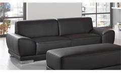 Sofa MANILA 3-Sitzer in schwarz mit Federkern und Vollschaum 218 cm