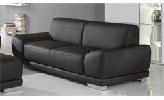 Sofa MANILA 2-Sitzer in schwarz mit Federkern und Vollschaum 198 cm