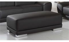 Sofagarnitur Manila 3-Sitzer 2-Sitzer Hocker Garnitur in schwarz mit Federkern